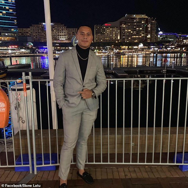Pictured: Sione Latu, who was allegedly stabbed after his match in Sydney