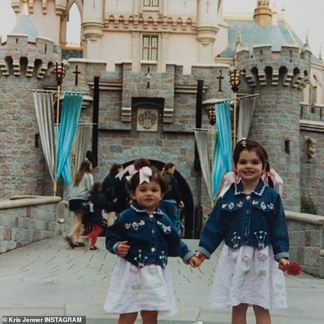 Back in time: Kris Jenner was the first to say Happy Birthday to her youngest child with a sweet Instagram post that included several flashback photos. With Kendall at Disneyland