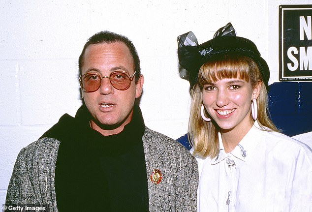 And then: In 1987, a 16-year-old girl from Long Island, New York came Out of the Blue with her debut pop album, and it hit big around the world; Debbie seen here with Billy Joel in 1988