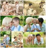 Идеи для фотосессии семейной на природе – Идеи для семейной фотосессии с ребенком на природе (Фото)