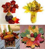 Как сделать цветы из опавших листьев – Осенние поделки из сухих цветов и цветы из кленовых листьев своими руками