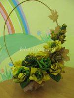 Корзинка с цветами из листьев – . . .