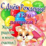 С 12 днем рождения девочке – 12