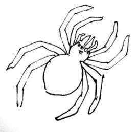 Аппликация из листьев паук – Поделка паук на паутине из ...