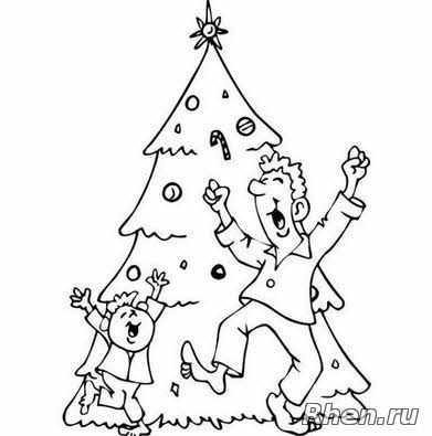 Распечатать елку – Раскраска Новогодняя Елка